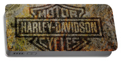 Harley Davidson Logo Grunge Metal Portable Battery Charger