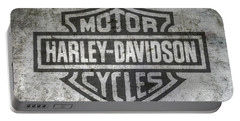 Harley Davidson Logo On Metal Portable Battery Charger