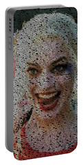 Harley Quinn Quotes Mosaic Portable Battery Charger by Paul Van Scott
