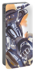 Portable Battery Charger featuring the painting Motorcycle Iv by Kip DeVore