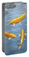 Portable Battery Charger featuring the photograph Harmony - Golden Koi by Gill Billington