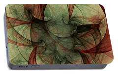 Portable Battery Charger featuring the digital art Harmony Remains by Jeff Iverson