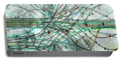 Portable Battery Charger featuring the digital art Harnessing Energy 3 by Angelina Vick