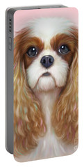 Portable Battery Charger featuring the painting Harper Cavalier by Catia Lee