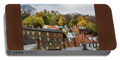 Portable Battery Charger featuring the photograph Harpers Ferry In Autumn by Ed Clark
