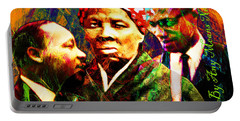 Harriet Tubman Martin Luther King Jr Malcolm X 20160421 Text Portable Battery Charger