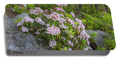 Harriman Pink And White Mountain Laurel Portable Battery Charger