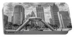 Hart Plaza In Detroit  Portable Battery Charger