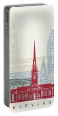 Harvard Skyline Poster Portable Battery Charger