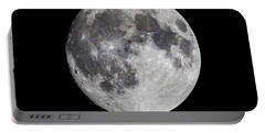 Portable Battery Charger featuring the photograph Harvest Moon At 99 Pct. Waxing Gibbous by Ricky L Jones