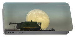 Portable Battery Charger featuring the photograph Harvest Moon by Brad Allen Fine Art