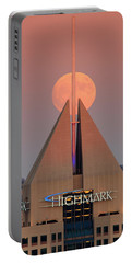 Portable Battery Charger featuring the photograph Harvest Moon In Pittsburgh  by Emmanuel Panagiotakis