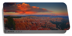 Harvest Moon Over Bryce National Park Portable Battery Charger