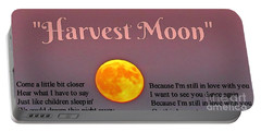 Harvest Moon Song Portable Battery Charger by John Malone