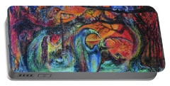 Portable Battery Charger featuring the painting Harvesters Of The Autumnal Swamp by Christophe Ennis