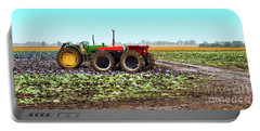 Portable Battery Charger featuring the photograph Harvesting Time In Wisconsin  by Ricky L Jones