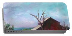 Portable Battery Charger featuring the painting Harvey Bear Ranch San Martin California Landscape 14 by Xueling Zou