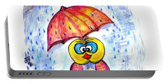 Portable Battery Charger featuring the drawing Has It Stopped Raining Yet?  by Ramona Matei