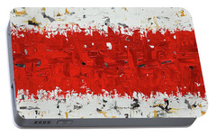 Portable Battery Charger featuring the painting Hashtag Red - Abstract Art by Carmen Guedez