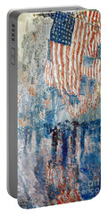 Hassam Avenue In The Rain Portable Battery Charger