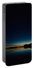Portable Battery Charger featuring the photograph Haukkajarvi By Night With Ursa Major 2 by Jouko Lehto