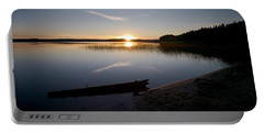 Portable Battery Charger featuring the photograph Haukkajarvi Evening by Jouko Lehto