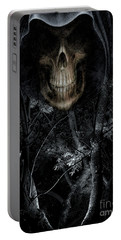 Portable Battery Charger featuring the photograph Haunted Forest by Al Bourassa
