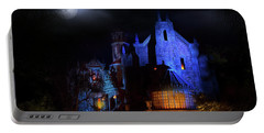 Haunted Mansion At Walt Disney World Portable Battery Charger by Mark Andrew Thomas