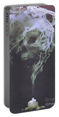 Portable Battery Charger featuring the painting Haunted Smoke  by Tithi Luadthong