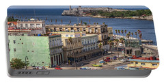 Portable Battery Charger featuring the photograph Havana By The Port by Steven Sparks