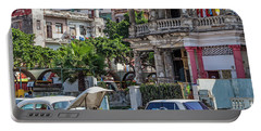 Portable Battery Charger featuring the photograph Havana Cuba by Charles Harden