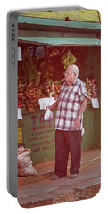 Portable Battery Charger featuring the photograph Havana Cuba Corner Market by Joan Carroll