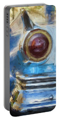 Portable Battery Charger featuring the photograph Havana Cuba Vintage Car Tail Light Painterly by Joan Carroll