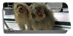Havanese Dogs Portable Battery Charger by Sally Weigand