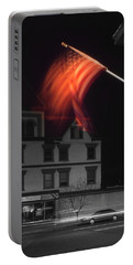 Portable Battery Charger featuring the photograph Waving Flag In Easton by Mike McGlothlen