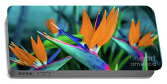 Hawaii Bird Of Paradise Flowers Portable Battery Charger