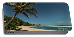 Hawaii Moonlit Beach Wainiha Kauai Hawaii Portable Battery Charger