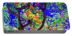 Hawaii Shower Tree Flowers In Abstract Portable Battery Charger