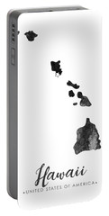 Hawaii State Map Art - Grunge Silhouette Portable Battery Charger