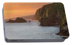 Hawaii Sunrise At The Pololu Valley Lookout 2 Portable Battery Charger by Larry Marshall