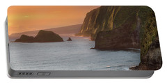 Hawaii Sunrise At The Pololu Valley Lookout 2 Portable Battery Charger
