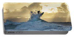 Hawaii Surfing Sunset Polihali Beach Kauai Portable Battery Charger