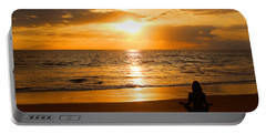 Portable Battery Charger featuring the photograph Hawaiian Beach Yoga by Michael Rucker
