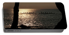 Hawaiian Dugout Canoe Race At Sunset Portable Battery Charger