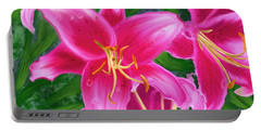 Hawaiian Flowers Portable Battery Charger