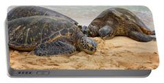 Hawaiian Green Sea Turtles 1 - Oahu Hawaii Portable Battery Charger by Brian Harig