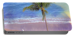 Hawaiian Morning Portable Battery Charger by Kathy Bassett
