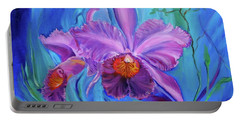 Hawaiian Orchid Lavender Jenny Lee Discount Portable Battery Charger
