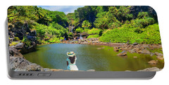 Portable Battery Charger featuring the photograph Hawaiian Sacred Pools by Michael Rucker