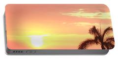 Hawaiian Sunset Portable Battery Charger by Karen Nicholson